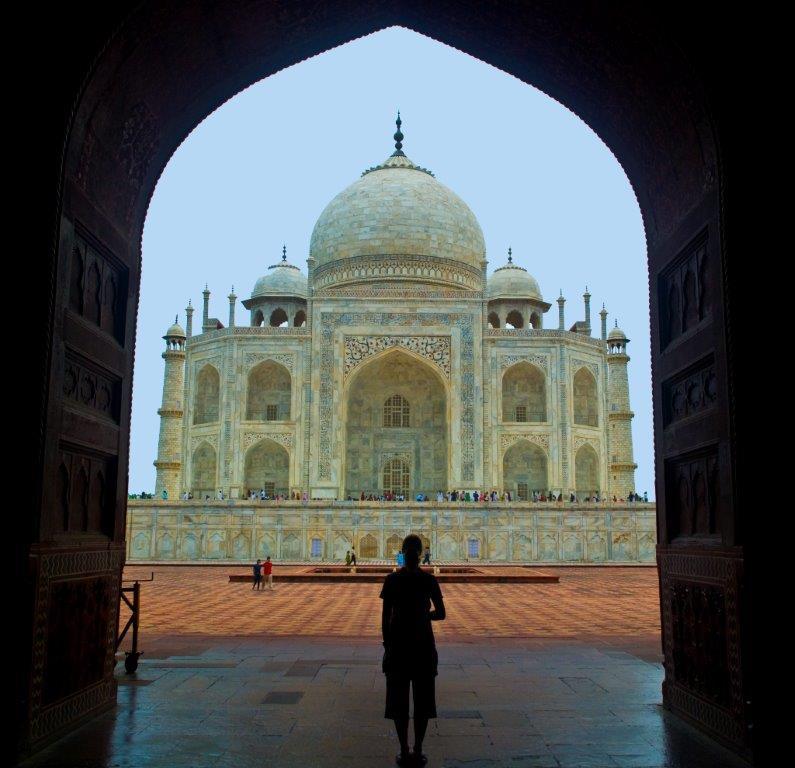 India Taj Mahal silhouette